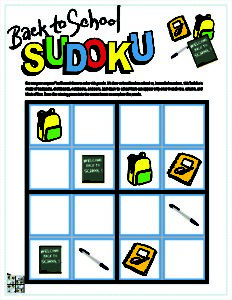 2 Back to School Sudoku