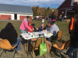 Face painting at the Harvest Festival