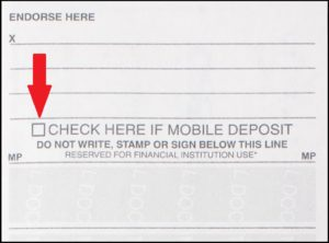 mobile deposit check box example