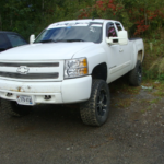 2008 Chevy Silverado front drivers side view