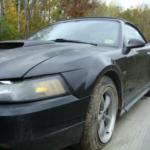 2002 Ford Mustang Convertible GT front driver side view