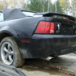 2002 Ford Mustang Convertible GT rear driver side view