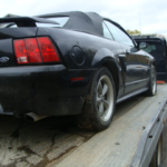 2002 Ford Mustang Convertible GT rear passenger side view