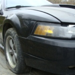 2002 Ford Mustang Convertible GT front passenger side view