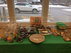 table of goodies for sale