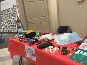 craft items on table for sale