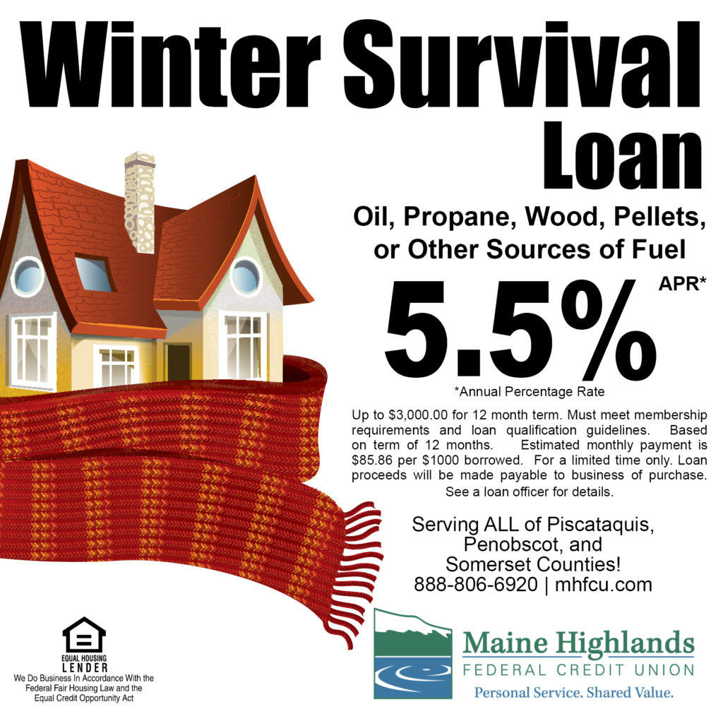 Winter Survival Loan ad