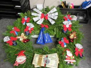 decorated wreath