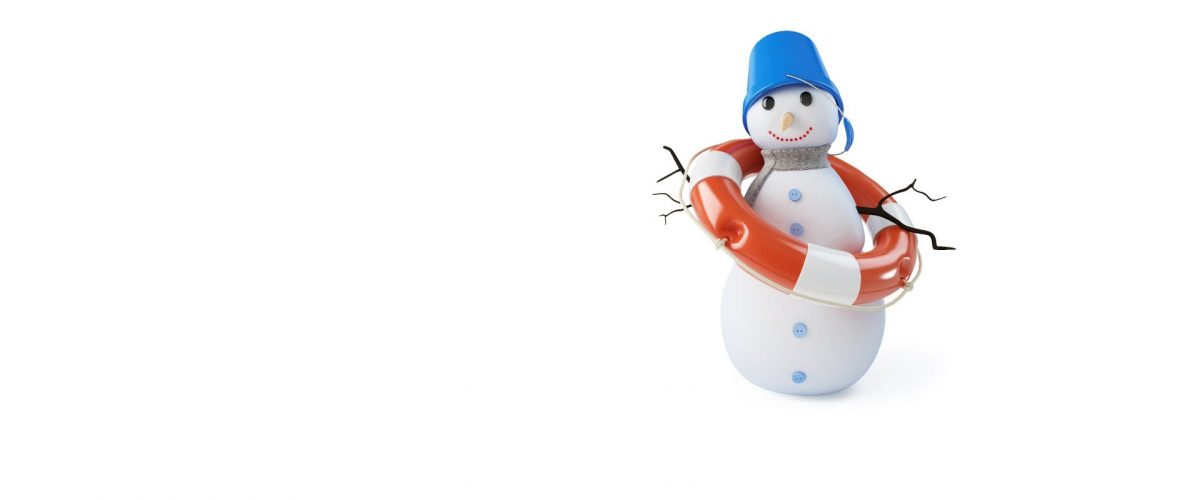 snowman with life preserver on