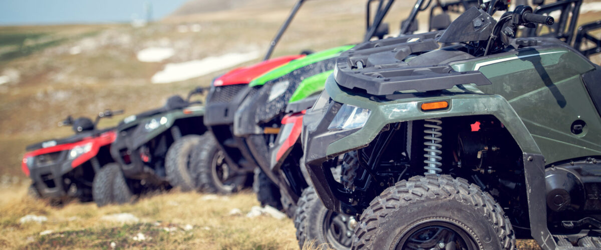 line of all terrain vehicles